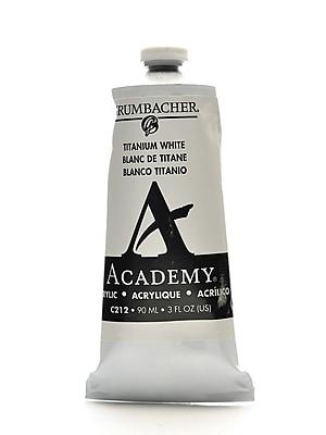 Grumbacher Academy Acrylic Colors Titanium White 3 Oz. (90 Ml) [Pack Of 3] (3PK-C212)
