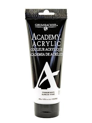 Grumbacher Academy Acrylic Colors Titanium White 6.8 Oz. (200 Ml) [Pack Of 2] (2PK-C212P200)
