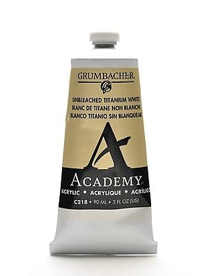 Grumbacher Academy Acrylic Colors Unbleached Titanium White 3 Oz. (90 Ml) [Pack Of 3] (3PK-C218)