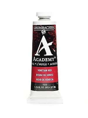 Grumbacher Academy Oil Colors Venetian Red 1.25 Oz. [Pack Of 3] (3PK-T223)