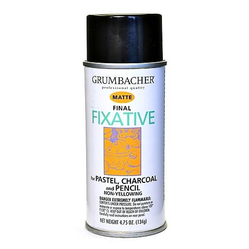 grumbacher hard final spray fixative matte 4 75 oz 649 staples