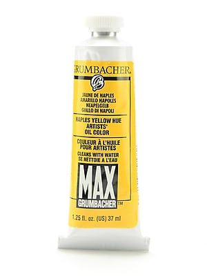 Grumbacher Max Water Miscible Oil Colors Naples Yellow Hue 1.25 Oz. (M146)