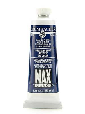 Grumbacher Max Water Miscible Oil Colors Prussian Blue 1.25 Oz. [Pack Of 2] (2PK-M168)