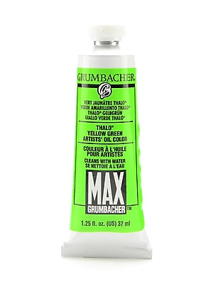 Grumbacher Max Water Miscible Oil Colors Thalo Yellow Green 1.25 Oz. [Pack Of 2] (2PK-M210)