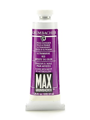 Grumbacher Max Water Miscible Oil Colors Ultramarine Red (Quinacridone Magenta) 1.25 Oz. (M220)