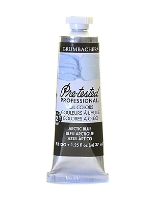 Grumbacher Pre-Tested Artists Oil Colors Arctic Blue P313 1.25 Oz. [Pack Of 2] (2PK-P313G)