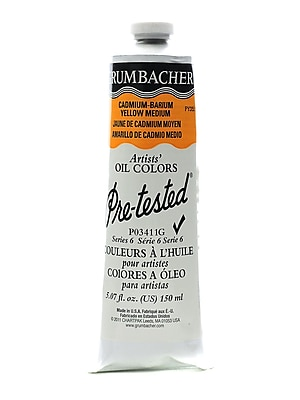 Grumbacher Pre-Tested Artists Oil Colors Cadmium Barium Yellow Medium P034 5.07 Oz. (P034-11G)