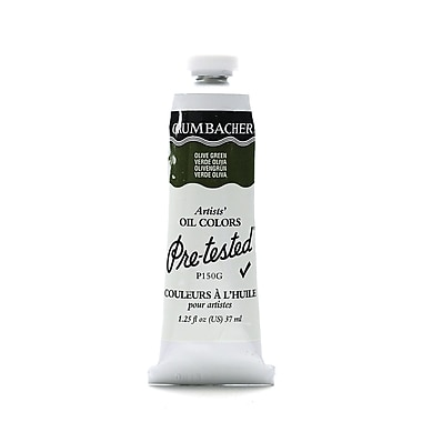 Grumbacher Pre-Tested Artists Oil Colors Olive Green P150 1.25 Oz. [Pack Of 2] (2PK-P150G)