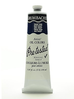 Grumbacher Pre-Tested Artists Oil Colors Thalo Blue P203 5.07 Oz. (P203-11G)