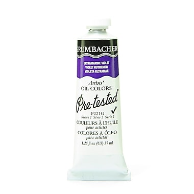 Grumbacher Pre-Tested Artists Oil Colors Ultramarine Violet P221 1.25 Oz. [Pack Of 2] (2PK-P221G)