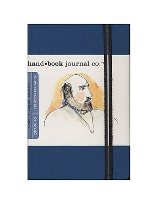 Hand Book Journal Co. Travelogue Drawing Journals 3 1/2 In. X 5 1/2 In. Portrait Ultramarine Blue [Pack Of 2] (2PK-721212)