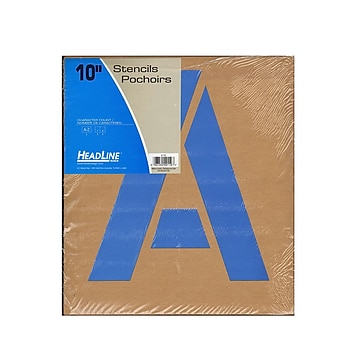 Headline Stencil Kits Gothic Capital Letters 10 In. (110)