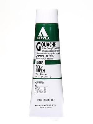 Holbein Acryla Gouache 20 Ml Deep Green [Pack Of 2] (2PK-D063)
