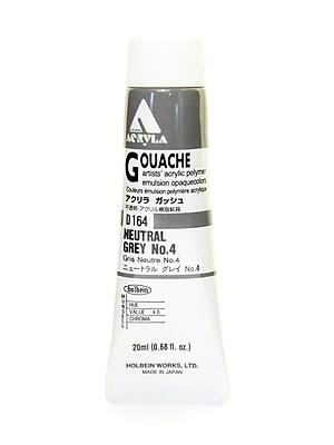 Holbein Acryla Gouache 20 Ml Neutral Grey #4 [Pack Of 2] (2PK-D164)
