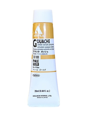 Holbein Acryla Gouache 20 Ml Pale Gold [Pack Of 2] (2PK-D181)