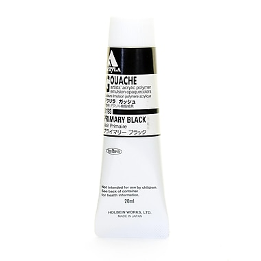Holbein Acryla Gouache 20 Ml Primary Black [Pack Of 2] (2PK-D193)