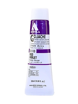Holbein Acryla Gouache 20 Ml Red Violet [Pack Of 2] (2PK-D113)