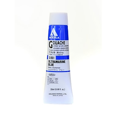 Holbein Acryla Gouache 20 Ml Ultramarine Blue [Pack Of 2] (2PK-D091)