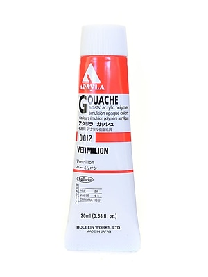 Holbein Acryla Gouache 20 Ml Vermillion [Pack Of 2] (2PK-D012)