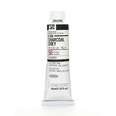 Holbein Artist Oil Colors Charcoal Grey 40 Ml [Pack Of 2] (2PK-H368)