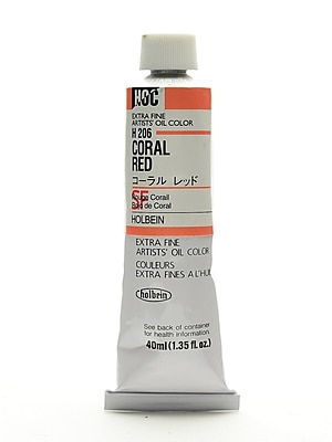 Holbein Artist Oil Colors Coral Red 40 Ml (H206)