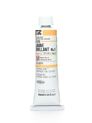 Holbein Artist Oil Colors Jaune Brillant #3 40 Ml (H235)