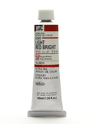 Holbein Artist Oil Colors Light Red Bright 40 Ml (H341)