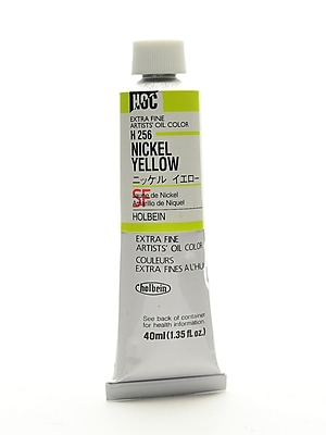 Holbein Artist Oil Colors Nickel Yellow 40 Ml (H256)