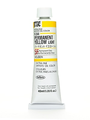 Holbein Artist Oil Colors Permanent Yellow Light 40 Ml [Pack Of 2] (2PK-H244)