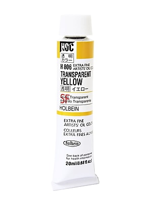 Holbein Artist Transparent Oil Colors Transparent Yellow 20 Ml (H806)