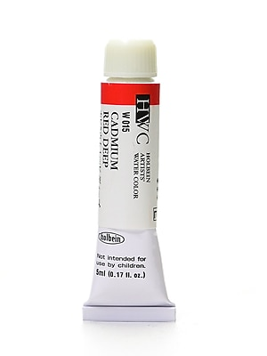 Holbein Artist Watercolor Cadmium Red Deep 5 Ml [Pack Of 2] (2PK-W015)