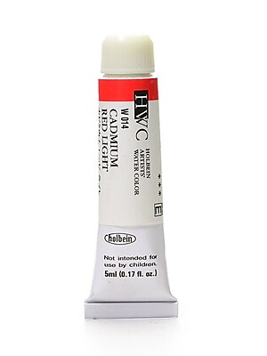Holbein Artist Watercolor Cadmium Red Light 5 Ml [Pack Of 2] (2PK-W014) 2137766