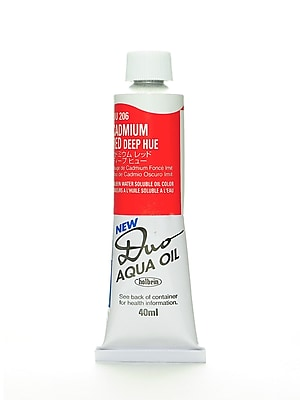 Holbein Duo Aqua Artist Oil Color Cadmium Red Deep Hue 40 Ml [Pack Of 2] (2PK-DU206)
