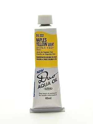 Holbein Duo Aqua Artist Oil Color Naples Yellow Light 40 Ml (DU222)