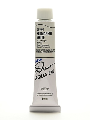 Holbein Duo Aqua Artist Oil Color Permanent White 50 Ml (DU460)