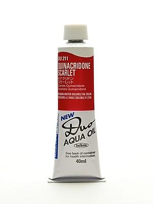Holbein Duo Aqua Artist Oil Color Quinacridone Scarlet 40 Ml (DU211)