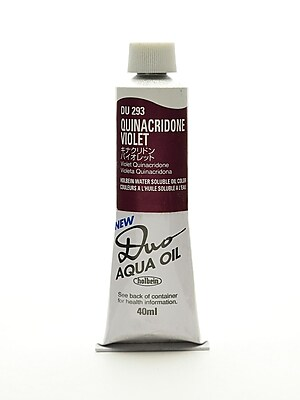 Holbein Duo Aqua Artist Oil Color Quinacridone Violet 40 Ml (DU293)