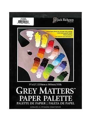 Jack Richeson Grey Matters Paper Palettes 12 In. X 16 In. [Pack Of 2] (2PK-100281)
