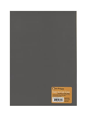 Jack Richeson Unmounted Easy-To-Cut Linoleum 12 In. X 12 In. [Pack Of 2] (2PK-799009)