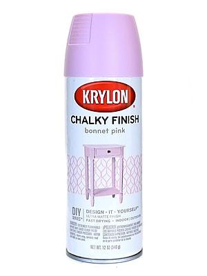 Krylon Chalky Finish Paint Bonnet Pink 12 Oz. (4116)