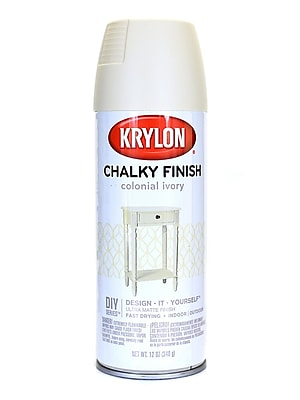 Krylon Chalky Finish Paint Colonial Ivory 12 Oz. (4108)
