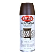 Krylon Chalky Finish Paint Dark Brown Wax Coating 11 Oz. (4119)