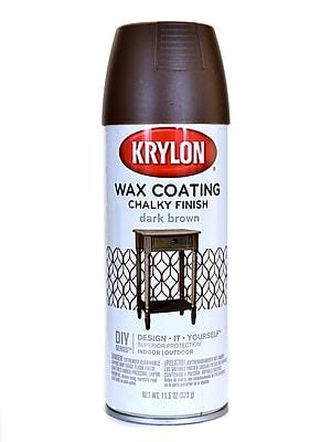 Krylon Chalky Finish Paint Dark Brown Wax Coating 11 Oz. (4119)