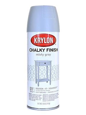 Krylon Chalky Finish Paint Misty Gray 12 Oz. (4102)