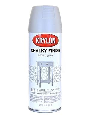 Krylon Chalky Finish Paint Paver Gray 12 Oz. (4105)