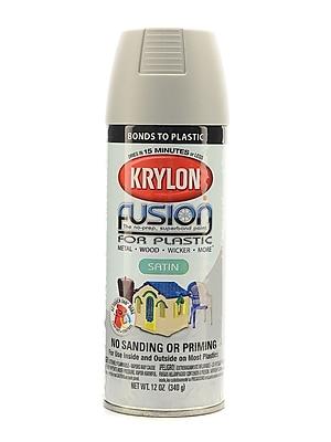 Krylon Fusion Spray Paint For Plastic Pewter Gray Satin (2439)