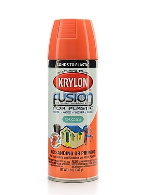 Krylon Fusion Spray Paint For Plastic Pumpkin Orange Gloss (2337)