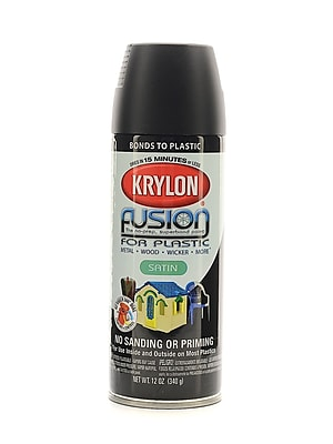 Krylon Fusion Spray Paint For Plastic Satin Black Satin (2421)