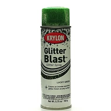 Krylon Glitter Blast Spray Paints Lucky Green 5 3/4 Oz. (3809)