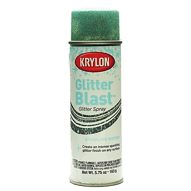 Krylon Glitter Blast Spray Paints Sparkling Waters 5 3/4 Oz. (3810)